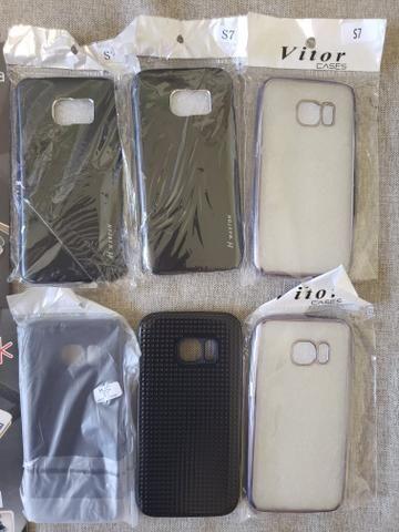 Samsung S7 - lote de capas e peliculas de vidro
