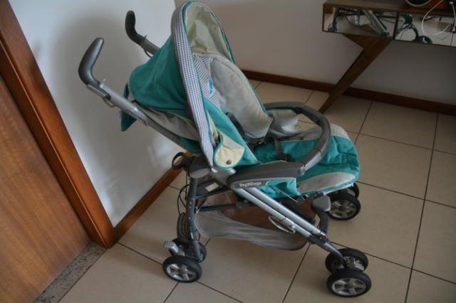 Carrinho de bebê da PegPerego + capa confortável - Foto 3