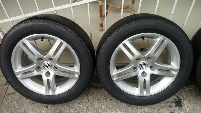 Jogo de rodas 5 furos original Honda civic Exs aro 16 - Foto 5