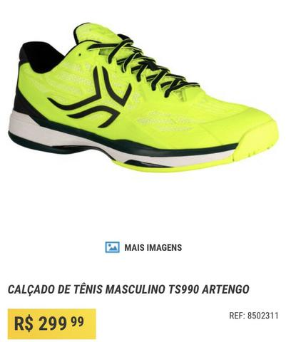 Tênis masculino ts990 artengo