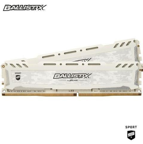 Memoria Ballistix Sport 16gb 2x8gb Ddr4 2400mhz Crucial Nova - 1 ano de garantia