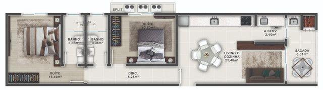 Apto, Apartamento em Bombas - Bombinhas - 2 Quartos, 1 Suíte - Foto 5