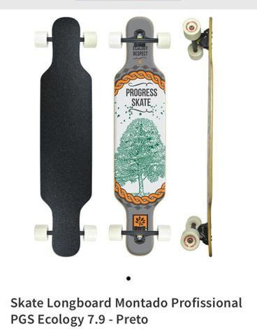 Skate longboard motado profissional - Foto 3