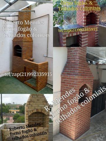 Churrasqueiras forno fogão & Telhados Coloniais - Foto 4