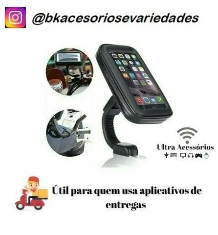 Suporte Com Case E Usb Para Moto H Maston- Entrega Grátis - Promoção - Foto 3