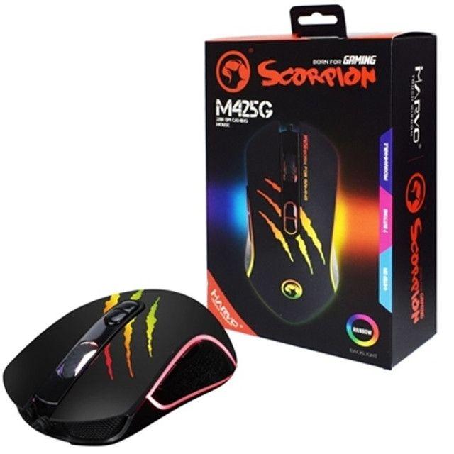 Mouse Gamer Marvo Scorpion M425g 7botoes Rgb 3200 Dpi - Foto 2