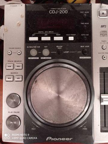 Vendo Cdj 200 Pioneer mais gravador de cd externo - Foto 2