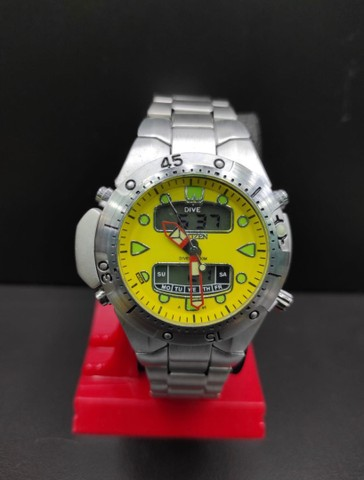 Relógio Citizen Aqualand Aço inoxidável 100% Prova d?água Jp-1060 - Foto 2