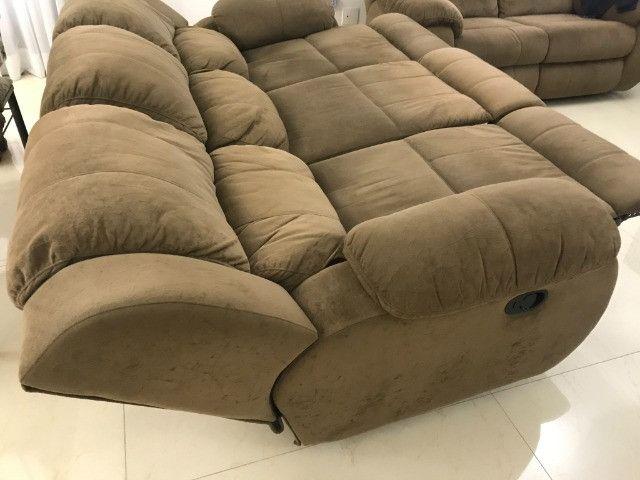 Sofa Plenitude Colosso Reclinável 3 lugares - Foto 2