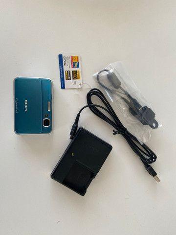 Câmera Fotográfica Sony Cyber-Shot DSC-T2 Importada Azul - Raridade - Foto 3