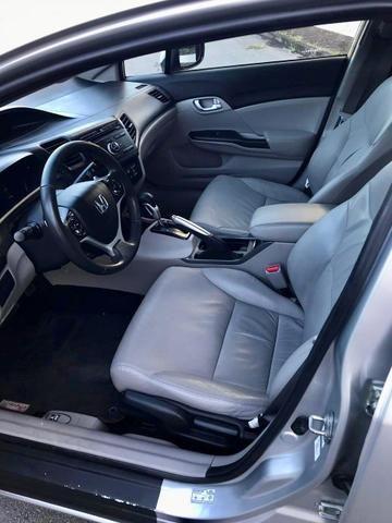 Honda civic 2015 lxr 2.0, automático, top com bancada de couro, impecável!!! - Foto 7