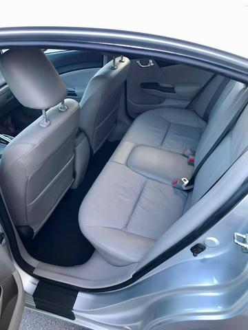 Honda civic 2015 lxr 2.0, automático, top com bancada de couro, impecável!!! - Foto 8