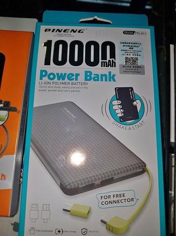 Bateria Extra Power Bank Pineng Original Slim 10000mah Usb - Foto 2