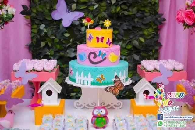 Decoração Infantil Jardim Encantado Cha de Bebe Cha de Fralda - Foto 5