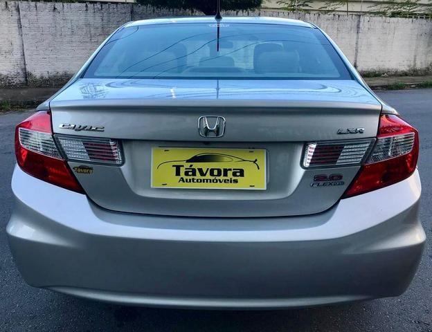 Honda civic 2015 lxr 2.0, automático, top com bancada de couro, impecável!!! - Foto 3