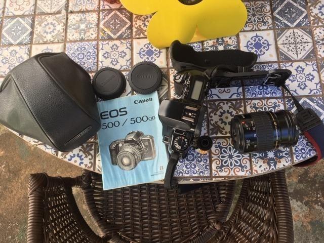 Camera Canon Eos500 Com Lente 28-80 Mm Analogica - Foto 3
