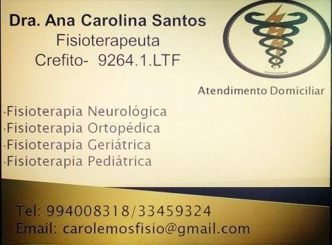 Atendimento de Fisioterapia Domiciliar ou no Consultório
