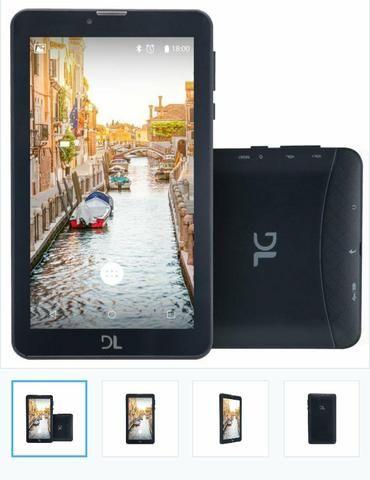Tablet DL Mobi Tab Preto com Tela de 7
