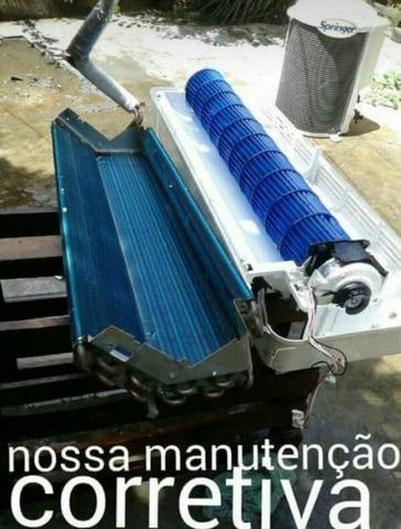 Limpeza e igienizacao manutenção preventiva de ar split