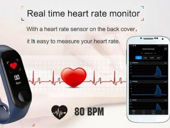 Smart Band - Pulseira Inteligente/Relógio Fitness Rastreador De Pressão Arterial - Foto 2