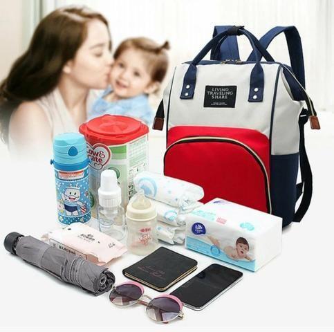 Bolsa mochila Amamentação maternidade - Foto 3
