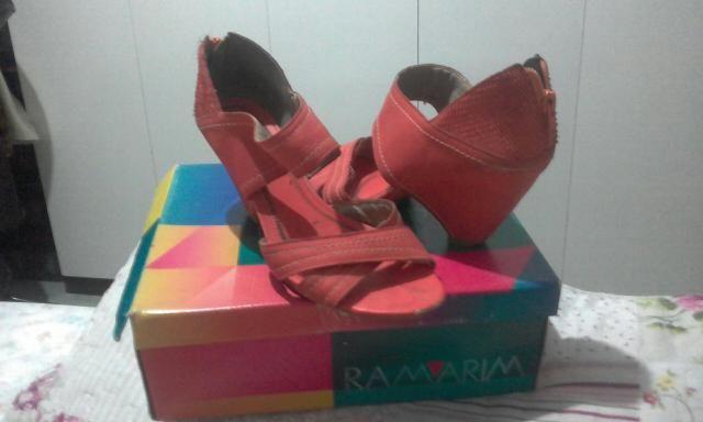 Sandália diferenciada coleção Ramarim / cor quase laranjada / meio salmon / tamanho-38 - Foto 3