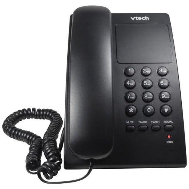 Telefone c/ fio digital de mesa VTC105B- NOVO