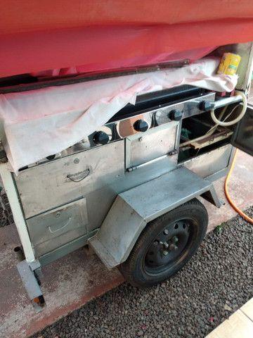 Carrinho para lanche com chassis - Foto 2