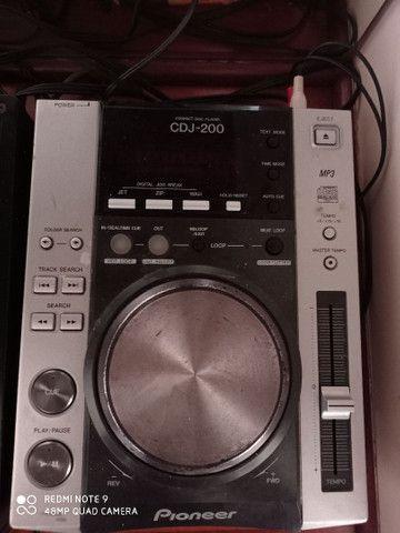 Vendo Cdj 200 Pioneer mais gravador de cd externo