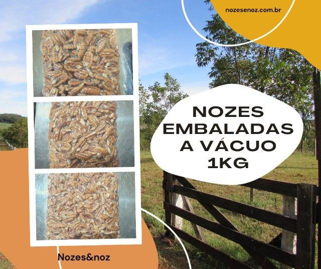 Nozes pecã embaladas à vácuo 1kg
