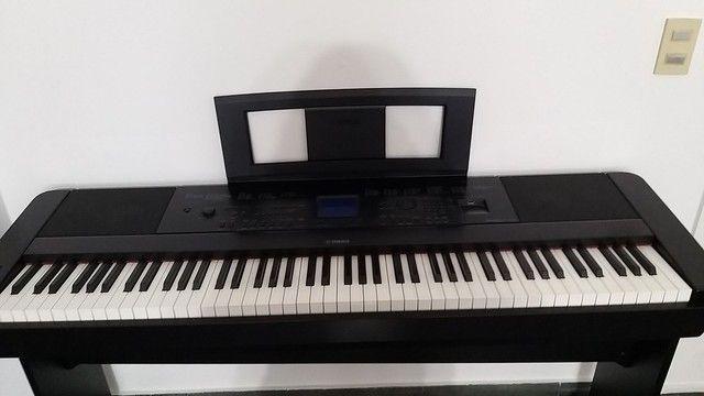 Piano Yamaha Eletrônico DGX 660 - Foto 4
