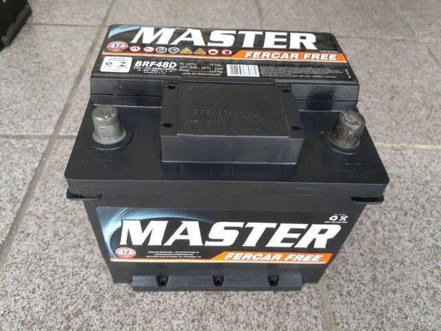 Bateria usada 40 50 60 ah, 120,00 com 03 meses de garantia à base de troca à vista. - Foto 2