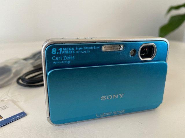 Câmera Fotográfica Sony Cyber-Shot DSC-T2 Importada Azul - Raridade