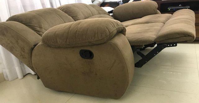 Sofa Plenitude Colosso Reclinável 3 lugares - Foto 3