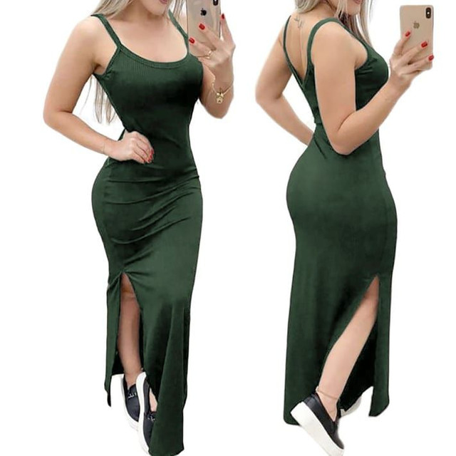 Lindo vestido longo canelado - Foto 2