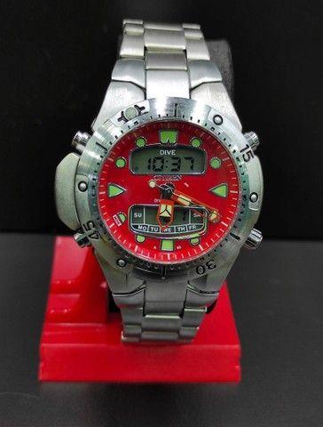 Relógio Citizen Aqualand Aço inoxidável 100% Prova d?água Jp-1060 - Foto 4