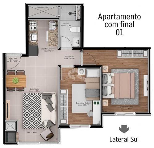 Apartamento à venda com 2 dormitórios em São roque, Bento gonçalves cod:9914242 - Foto 5