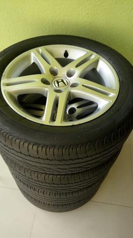 Jogo de rodas 5 furos original Honda civic Exs aro 16 - Foto 2