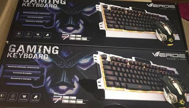 Kit Gamer, Gaming Set teclado Led e Mouse Fire 4000