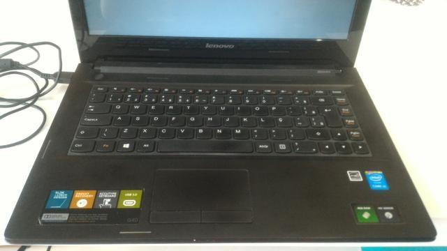 Notebook lenovo, g40-70, core i3, modelo 80ga, funcionando perfeitamente