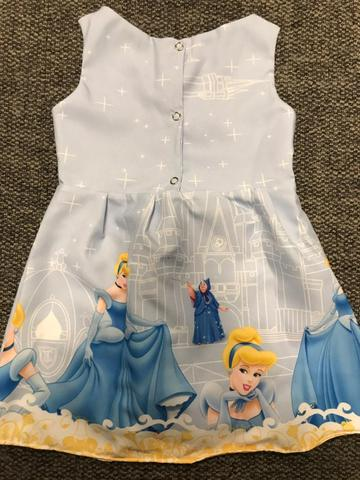 Vestido Cinderela 1 ano Formatinho