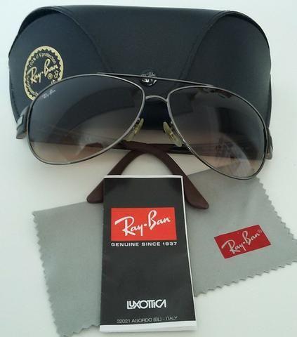 0dbc81381 Óculos Ray Ban Rb 3467 Aviador Lente Marrom 100% Original ...