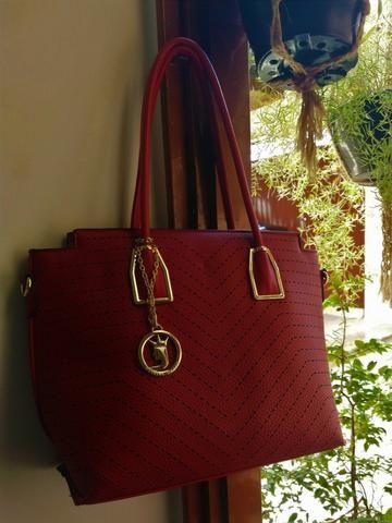 a14807022 Bolsa Vermelha - Fashion Queen - Bolsas, malas e mochilas - Alto do ...