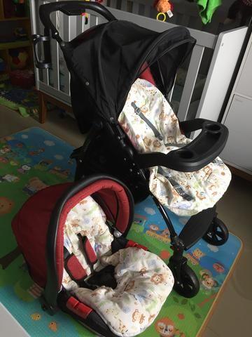 Burigotto Peg Perego Carrinho de bebê + bebê conforto - Foto 6
