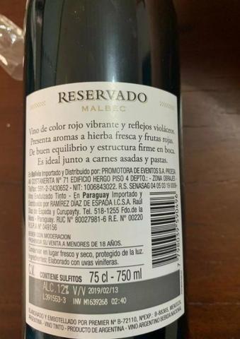 Vinho Reservado Malbec - Foto 3
