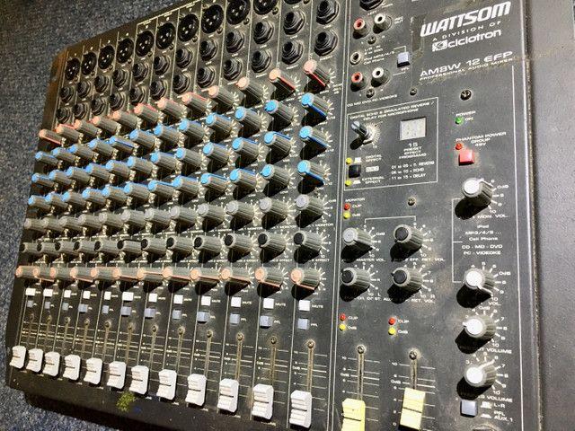 Mesa 12 canais efeitos mixer Watsom AM8W - Foto 2
