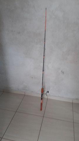 Vara de pesca mais molinete