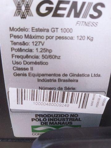 Esteira Genis GT 1000 Polishop ( 5 Meses de Uso, 2 Anos de Garantia ) Extremamente Nova. - Foto 6