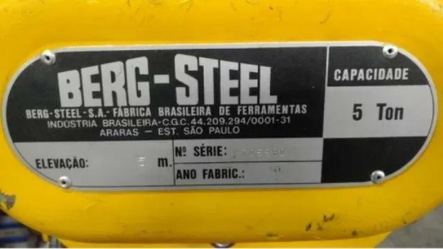 Talha Manual Berg Steel BS Super 5 Ton x 5 m - Foto 3