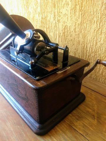 Fonógrafo Gramofone Thomas Edison 1900 - Foto 4